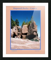 Hopewell Rocks - Canada Picture Frame print