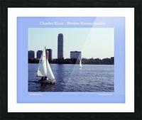 Sailing The Charles River - Boston Massachsuetts Picture Frame print
