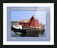 Motif Number One - Rockport Massachsuetts Picture Frame print