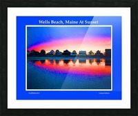 Wells Beach Maine Sunset Picture Frame print