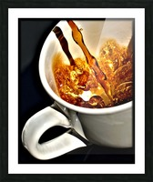 Coffee Pour  Picture Frame print