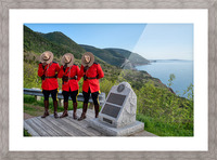 Respect and Honour - RCMP on French Mountain Picture Frame print