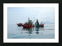Bangkok - The Fisherman Picture Frame print