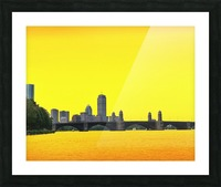 Hot Day In Boston Picture Frame print