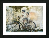 bicycle children graffiti art Picture Frame print