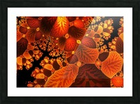 leaf autumn nature background Picture Frame print