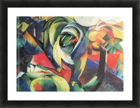 The Mandrill by Franz Marc Picture Frame print