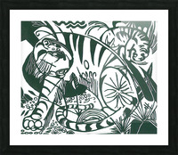 Tiger -2- by Franz Marc Picture Frame print