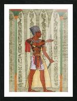 egyptian design man royal  Picture Frame print