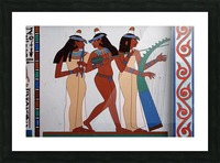 egypt fresco mural decoration Picture Frame print