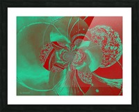Emerald and Red Circular Patterns Picture Frame print