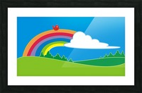 natural cloud field grass Picture Frame print