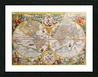 ORBIS TERRA RVM Old-Cartographic Map Picture Frame print