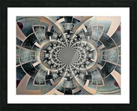 Graphic Ornamental Silver Picture Frame print