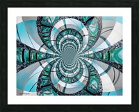 Infinity Teal Picture Frame print