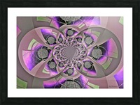 Mirror Infinity Lilac Picture Frame print