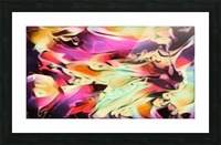 Rising Glow - multicolor swirls abstract wall art Picture Frame print