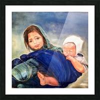 Child raising a Child Picture Frame print