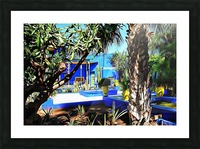 Yellow and Blue Contrasts Jardin Majorelle Picture Frame print