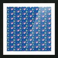memphis pattern Picture Frame print