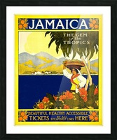 vintage retro poster travel Picture Frame print