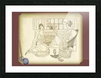 vintage card greeting ladies Picture Frame print