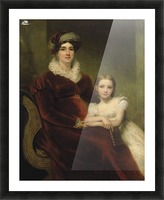 Mrs.Alexander Allan with her granddaughter Picture Frame print