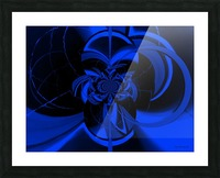 Hypnotic Sapphire Picture Frame print
