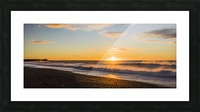 Icelandic beach sunset vik Iceland Picture Frame print