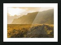 Icelandic sunset in Vik Iceland Picture Frame print