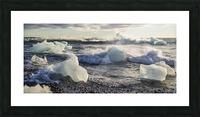 Ice bergs on Jokulsarlon beach Iceland Picture Frame print