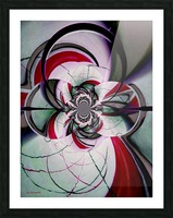 Broken Symmetry Red Picture Frame print