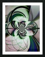 Broken Symmetry Teal Picture Frame print