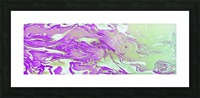 Lavender Mint Water - lavender mint green gradient swirls abstract wall art Picture Frame print