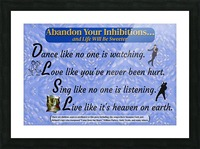 2-Dance Love Sing Live Picture Frame print