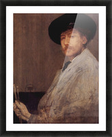 Self Portrait -1- by James Abbot McNeill Whistler Picture Frame print