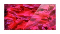 Red Field - violet black pink swirls abstract wall art Picture Frame print