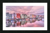 trondheim norway sunrise river Picture Frame print