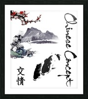 Chinese Concept 19A Picture Frame print