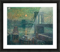 Moon the seine Picture Frame print