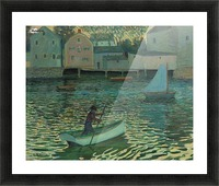 Boat in the water Picture Frame print