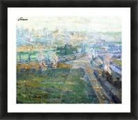 City landscape Picture Frame print