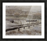 Winter on the river Picture Frame print