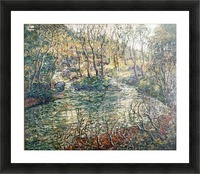 River and trees Picture Frame print