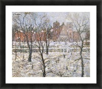 Cathedral in winter Picture Frame print