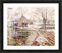 House in winter Picture Frame print