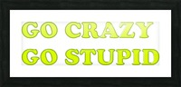 go crazy go stupid (4)_1563314953.7242 Picture Frame print