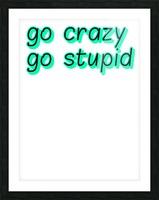 go crazy go stupid (5)_1563315026.8225 Picture Frame print