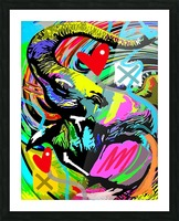 Color Elephant Picture Frame print