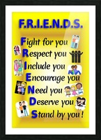 2-Friends  Picture Frame print